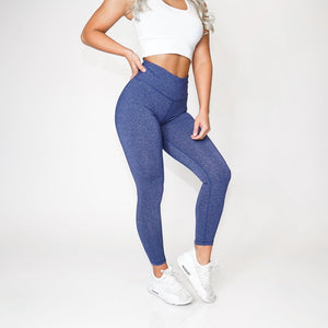 Navy Scrunch Leggings