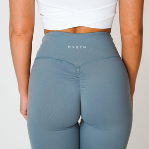 Light Grey Scrunch Leggings