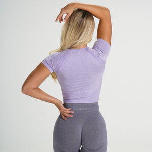 Lilac Seamless Short-Sleeve Crop