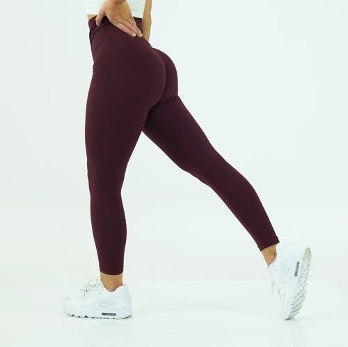 Burgundy Signature Leggings