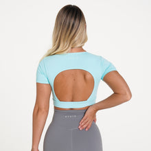 Load image into Gallery viewer, Aqua Open Back Tee