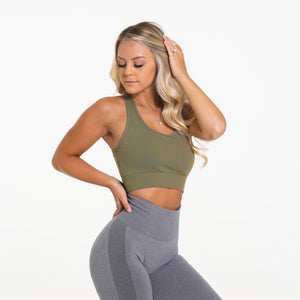 Army Green Performance Bra