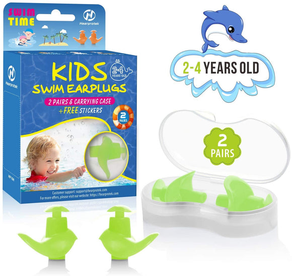 2 Pairs Swimming Ear Plugs for Kids 2-4 Years Old