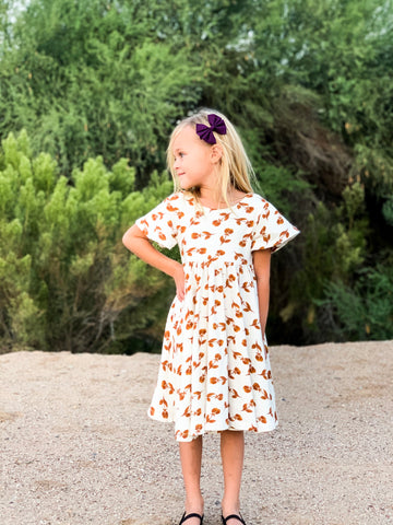 Marigold Poppy Twirl Dress