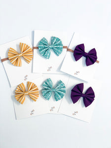 Belle & Bug Bows - Coordinating Fall Bows