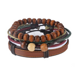Multi-Layer Handmade Bracelets With Beads, Leather (17 Different Designs)