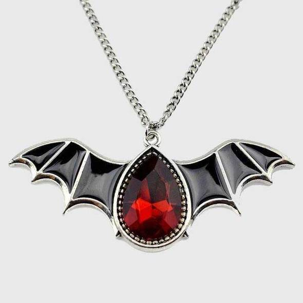 Crystal Vampire Bat Necklace-Pendalace [Buy Now]