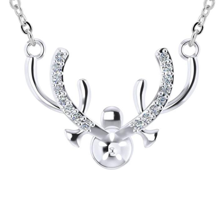 Reindeer Antler CZ Pendant-Pendalace [Buy Now]