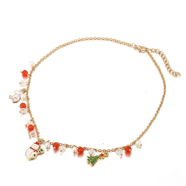 Christmas Tree Snowman Necklace-Pendalace [Buy Now]