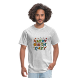 Happy Birthday T-Shirt - heather gray