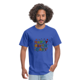 Happy Birthday T-Shirt - royal blue