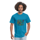 Happy Birthday T-Shirt - turquoise
