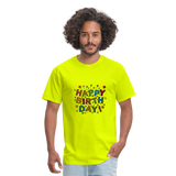 Happy Birthday T-Shirt - safety green