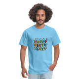 Happy Birthday T-Shirt - aquatic blue