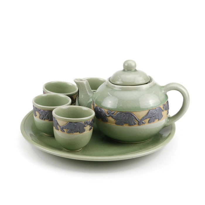 Black Elephant Handmade Tea Set