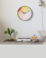 Saturation Pastel Art Wall Clock