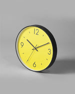 Saturation Yellow Art Wall Clock