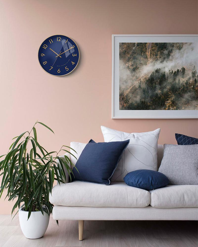 Warhol Blue Art Wall Clock