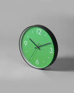 Saturation Green Art Wall Clock