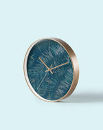 Green Forest Art Wall Clock