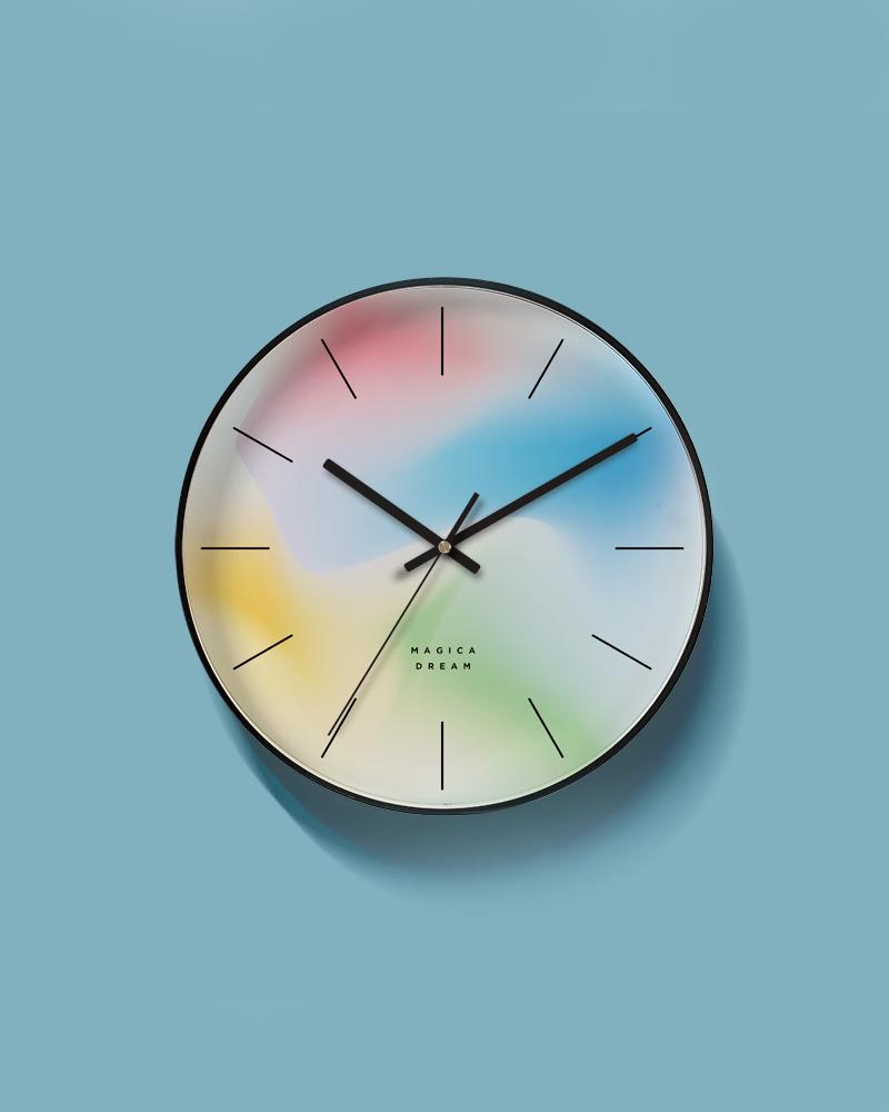 The Gradient White Art Wall Clock