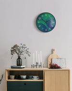 The Gradient Blue Green Art Wall Clock