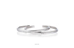 White Gold Plated Cuff Bracelet Bangle