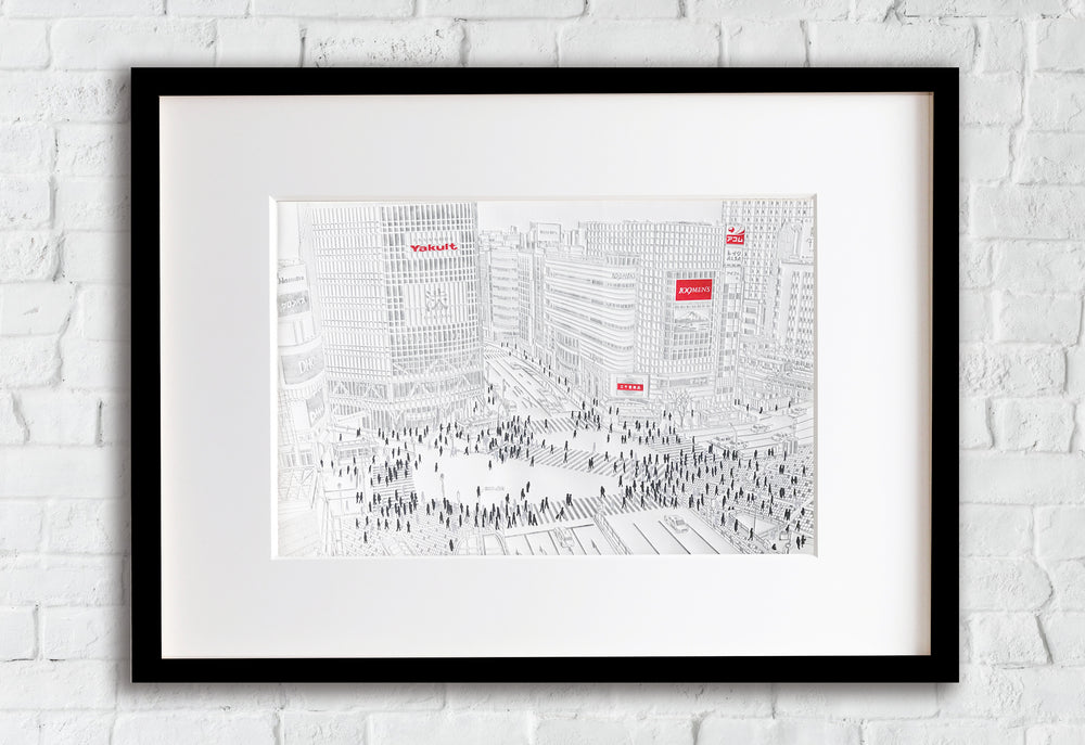 Shibuya Crossing Tokyo Framed Picture