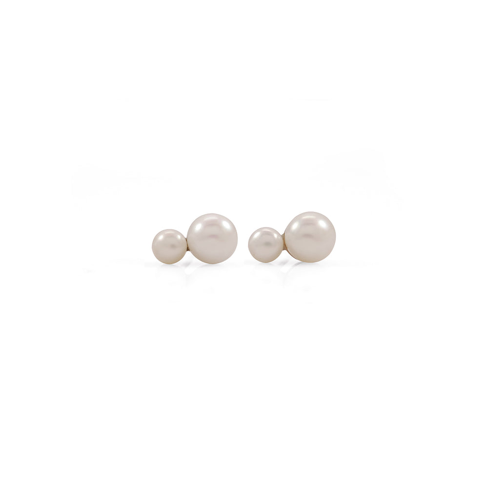 Mini Double Marshmallow Pearl Earrings