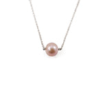 Single Pink Gold Pearl Necklace
