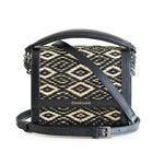 Black Diamond Water Sedge and Leather Mini Handbag