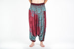 Women's Geometric Red Mandala Jumpsuit Yoga Pants