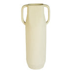 Epoch Ivory Large Handmade Stoneware Vase with Handle