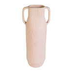 Epoch Pink Medium Handmade Stoneware Vase with Handle