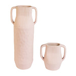 Epoch Pink Small Handmade Stoneware Vase with Handle