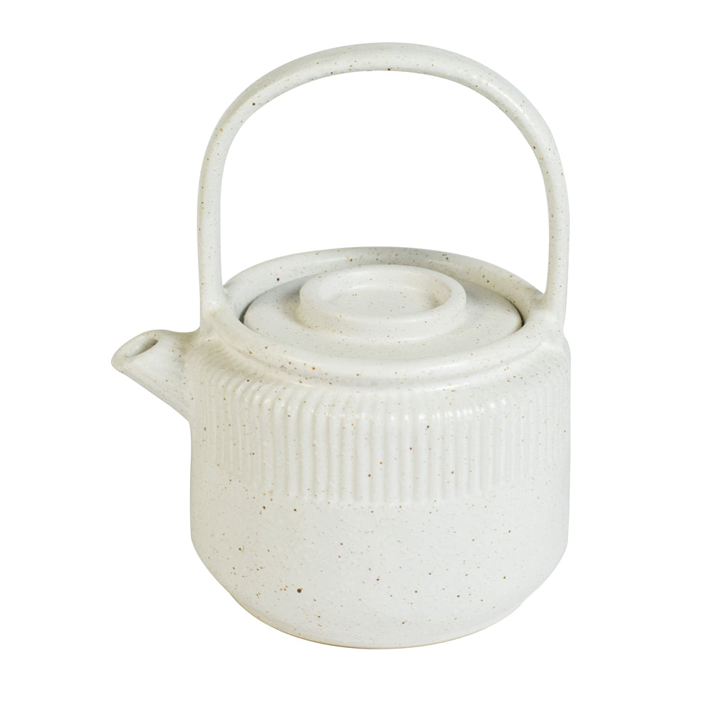 The Epoch White Sand Handmade Stoneware Teapot travel product recommended by Sally Fox on Pretty Progressive.