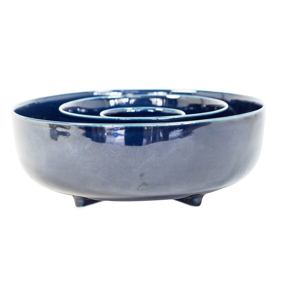 Deep Blue Stoneware Bowl