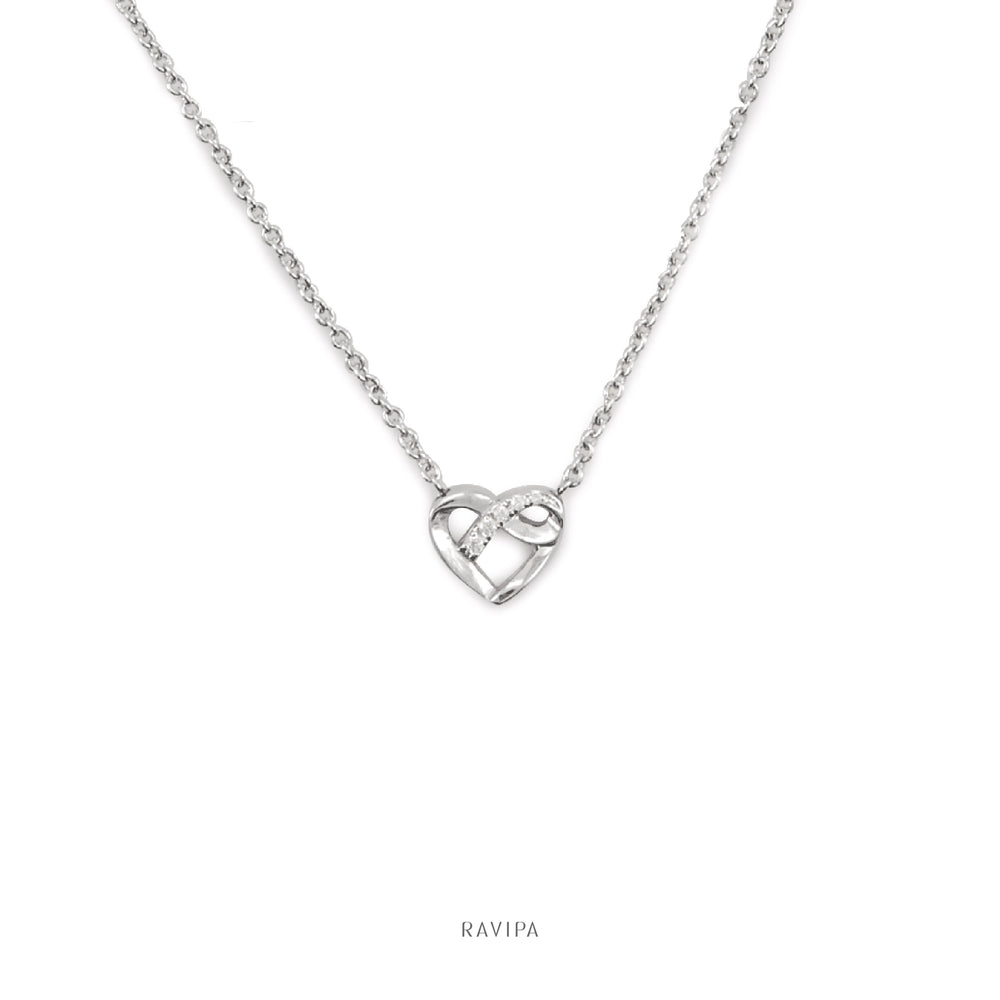 The Infinity Heart Elegant Necklace