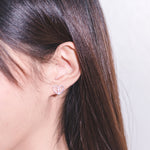 Heart Lock Stud Earrings