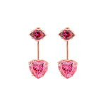 Kiss Me Rose Gold Plated Silver Earrings