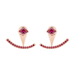 Smile Rose Gold Plated Silver Earrings