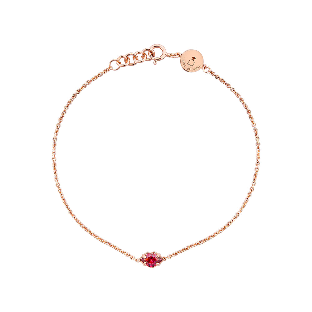 Kiss Me Rose Gold Plated Silver Bracelet