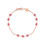 Amour Rose Gold Plated Silver Bracelet with Cubic Zirconia