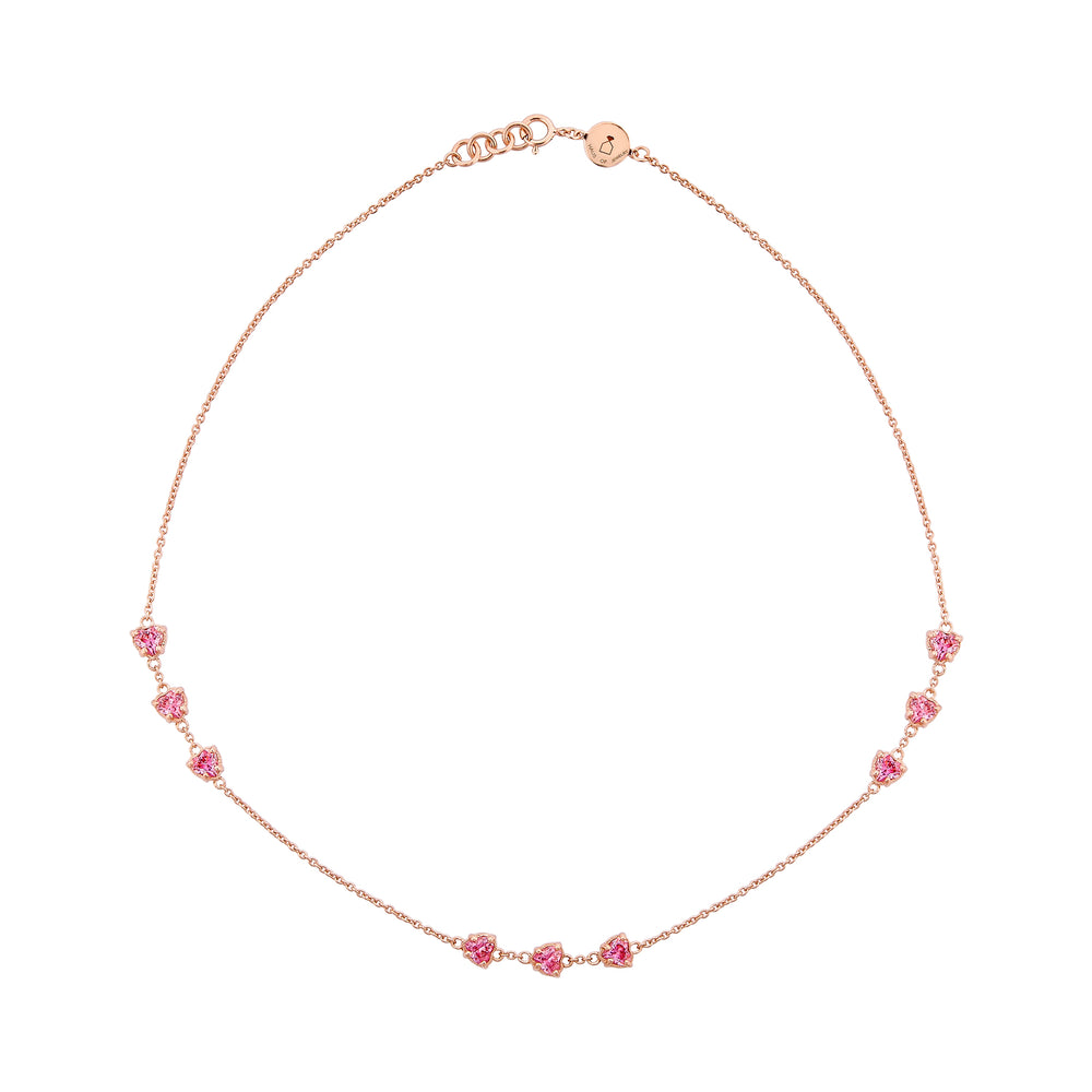 Amour Rose Gold Plated Silver Necklace with Cubic Zirconia