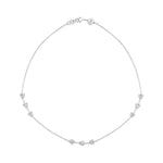 Amour White Gold Plated Silver Necklace with Cubic Zirconia