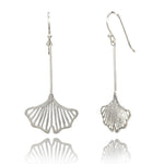 Filigree Organic Shape Silver Earrings
