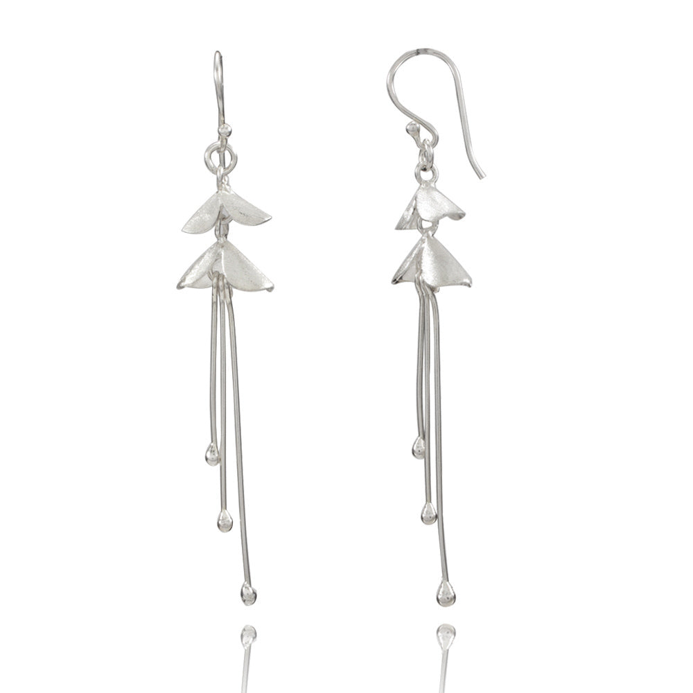 Orchid Small Silver Earrings