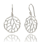 Filigree Silver Circle Stud Earrings