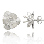 Orchid Silver Stud Earrings