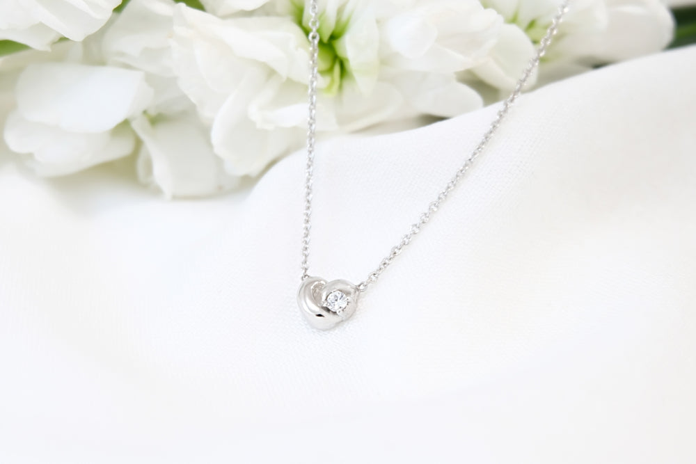 Promise Me Knot with Diamond Necklace